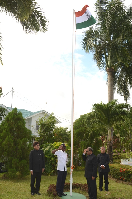 69th Independence Day of India Flag Hoisting Ceremony